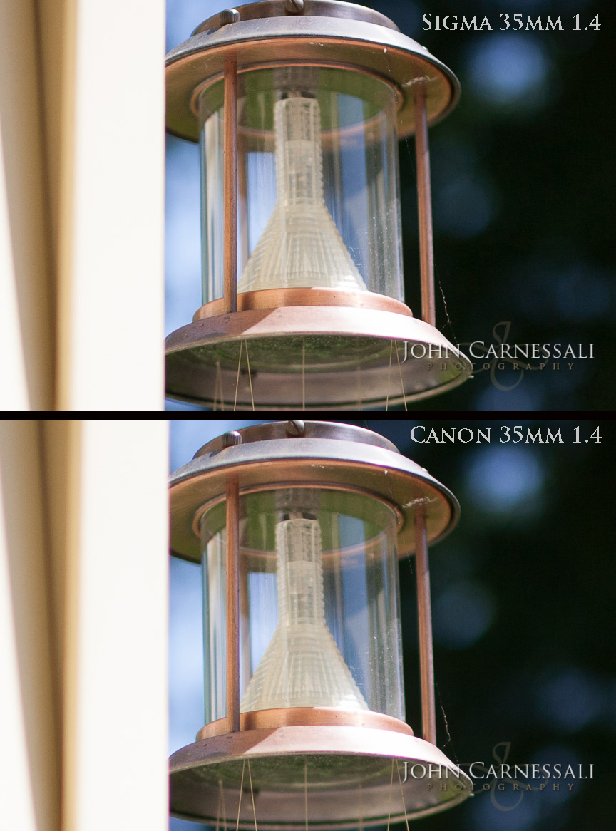 Sigma 35mm 1.4 Art Lens Vs. Canon 35mm 1.4 L Chromatic Aberration Comparison